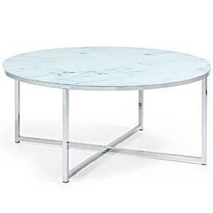 Table basse effet marbre