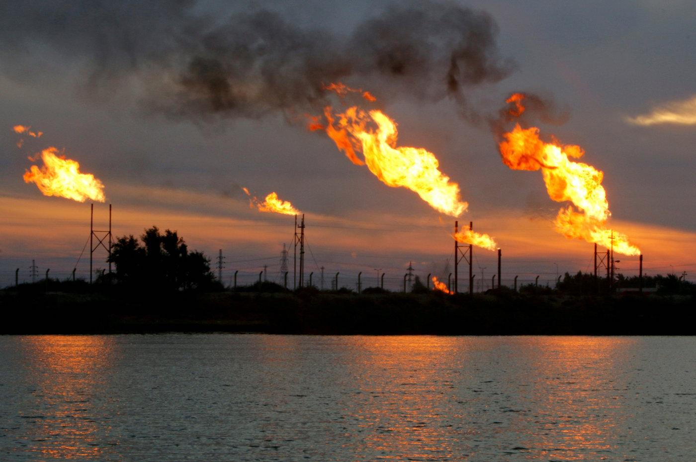 Ein Ölfeld südöstlich von Bagdad. (Reuters)