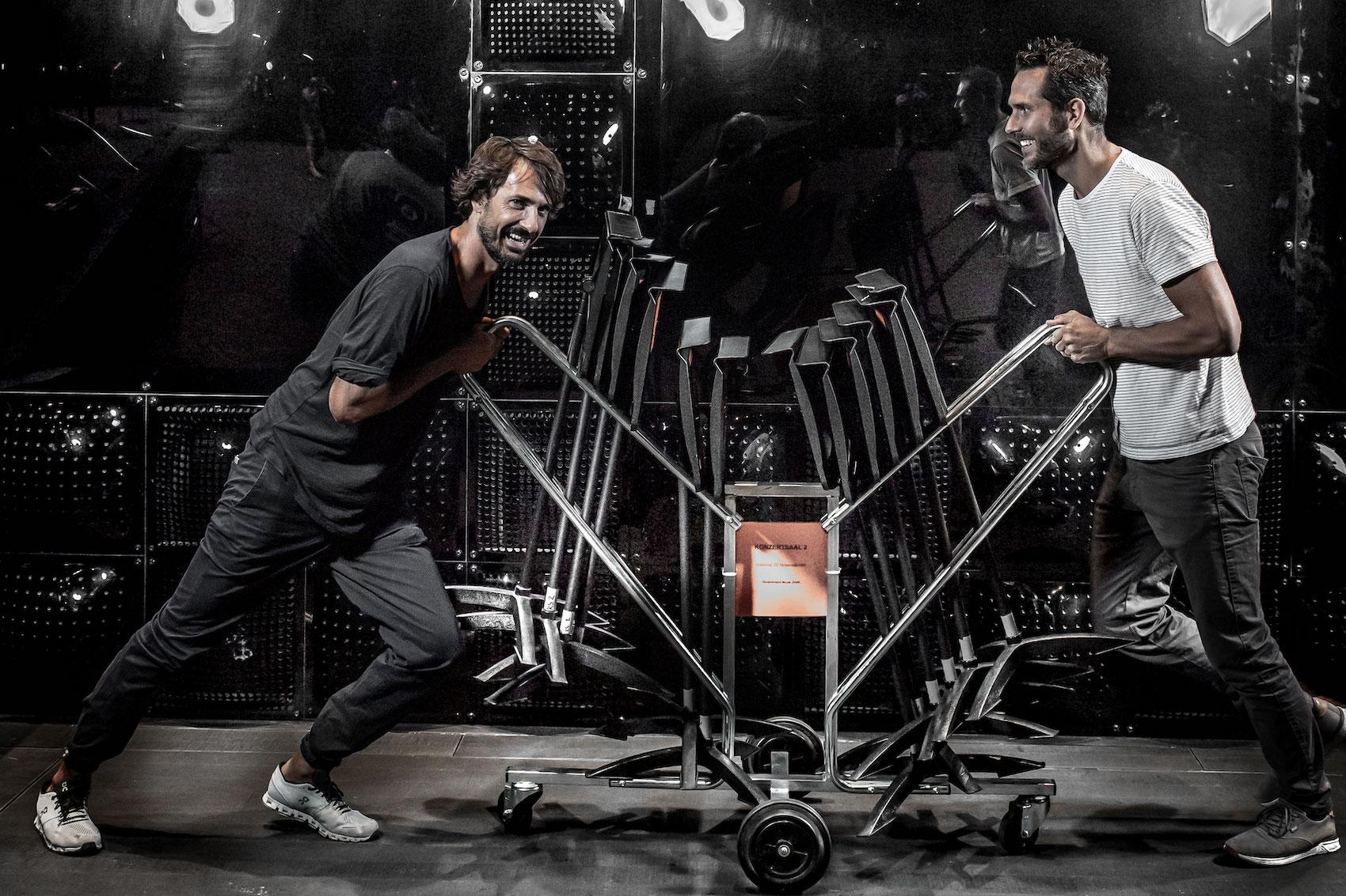 Le cofondateur d'On, Caspar Coppetti (à g.) et celui de Digitec Galaxus,Florian Teuteberg sont des entrepreneurs de l'ère numérique couronnés de succès.