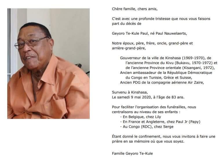 Geyoro Te-Kule Paul, né Paul Nauwelaerts 1