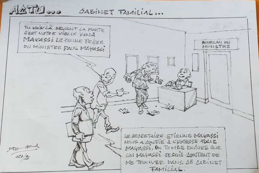 """L'actu politico-judiciaire"" vu par Djeis Djemba 1"