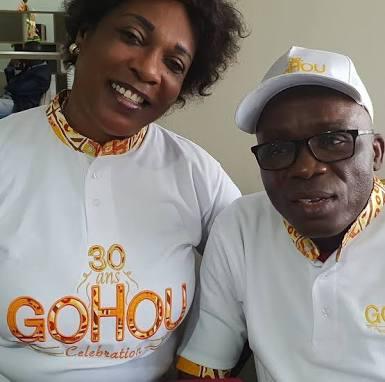 Le comique ivoirien Michel Gohou et famille 2