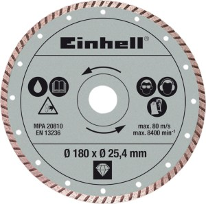 Διαμαντόδισκος Einhell Ø 180 x Ø 25,4 mm