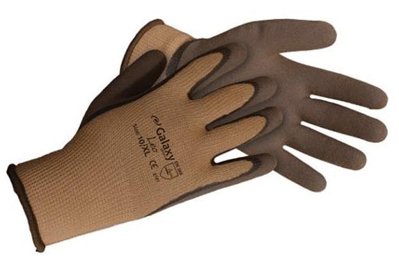 Galaxy Leo Γάντια Εργασίας Πλεκτά με Λάτεξ