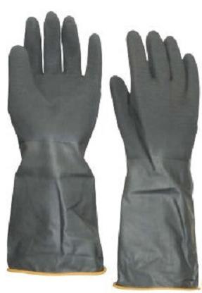 Panda Γάντια εργασίας σοβατζήδων μακρύ μανίκι μαύρα