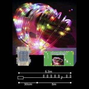 50 microLED ΦΩΤΟΣΩΛΗΝΑΣ ΠΟΛΥΧΡΩΜΟ 5m ΕΞΩΤΕΡΙΚΟΥ ΧΩΡΟΥ ΜΠΑΤΑΡΙΑΣ ΜΕ CONTROLLER