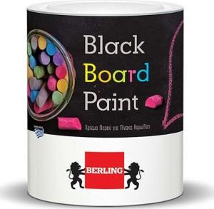 BERLING BLACK BOARD PAINT ΧΡΩΜΑ ΝΕΡΟΥ ΓΙΑ ΠΙΝΑΚΑ ΚΙΜΩΛΙΑΣ 0.375lt