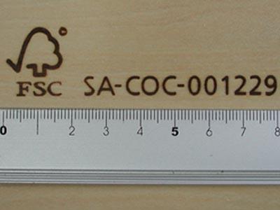 細長いFSC認証焼印