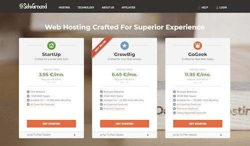 SiteGround pricing good