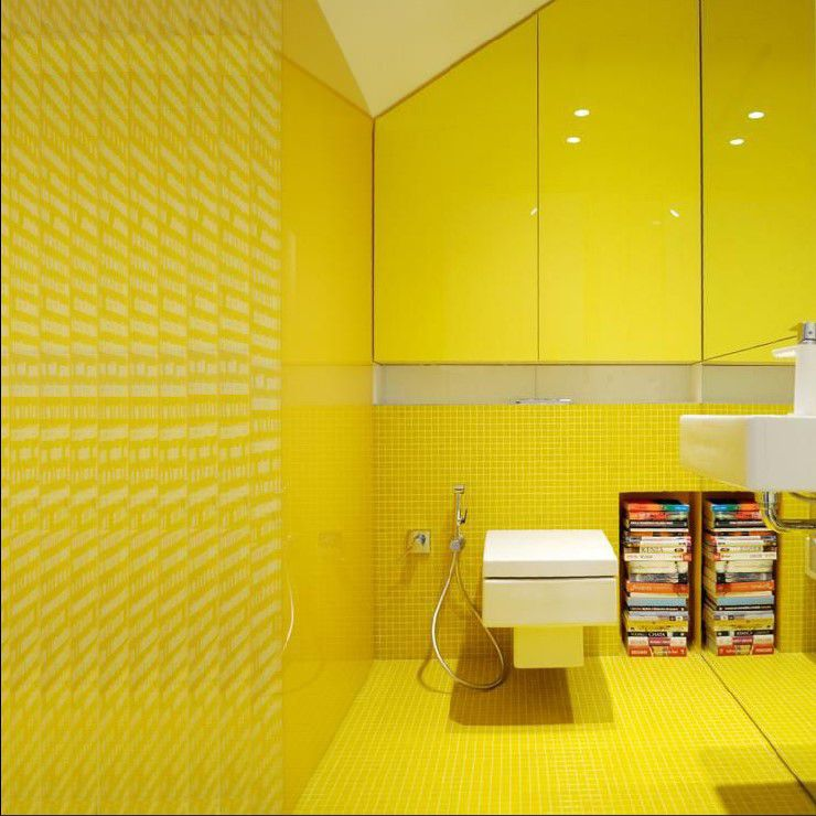 yellow crystal glass mosaic tile square