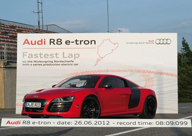 R8 e-tron'dan hız rekoru