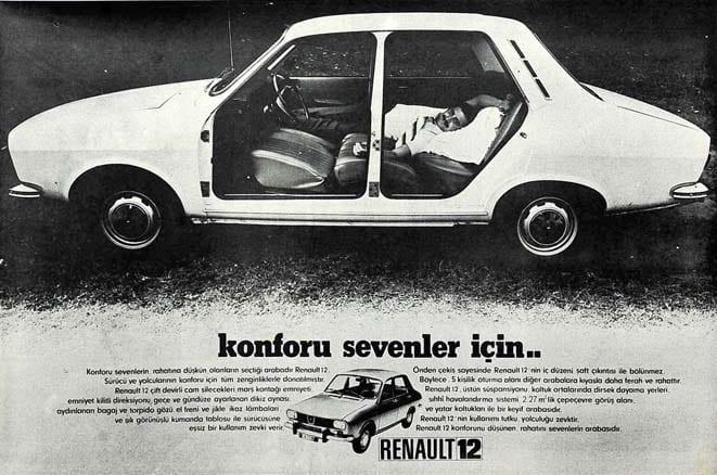 Renault 12'de konfor standart donanımdı!