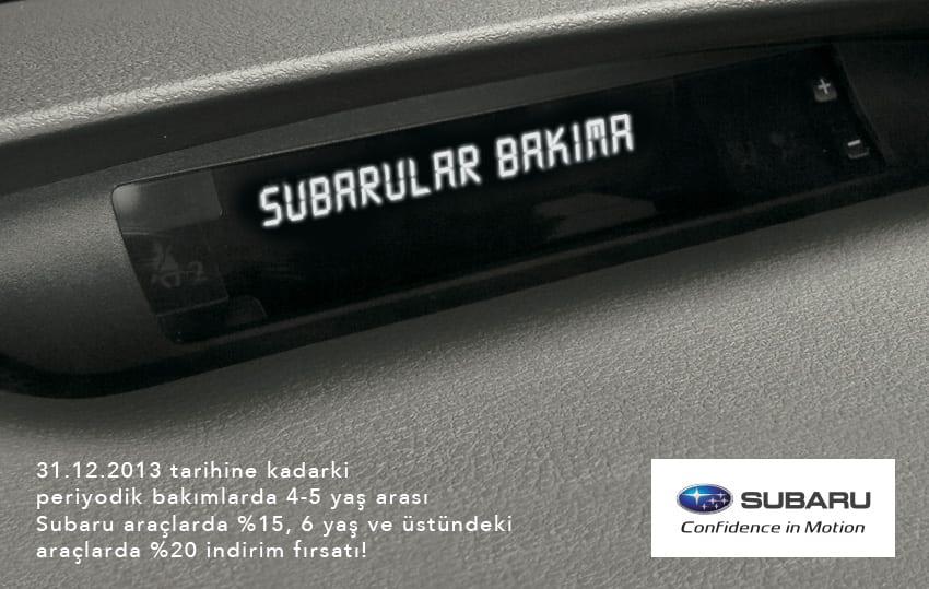 Subarular için bakım zamanı