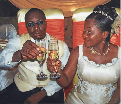 Alibaba comedian and wife, Mary on their wedding day | e-nigeria!
