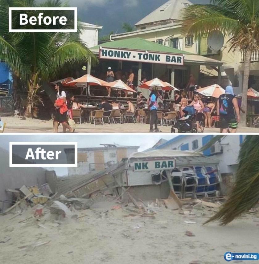 Пораженията от ураганът Ирма