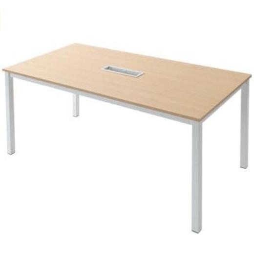 ニシキ工業 会議テーブル 配線ボックス有 ホワイト