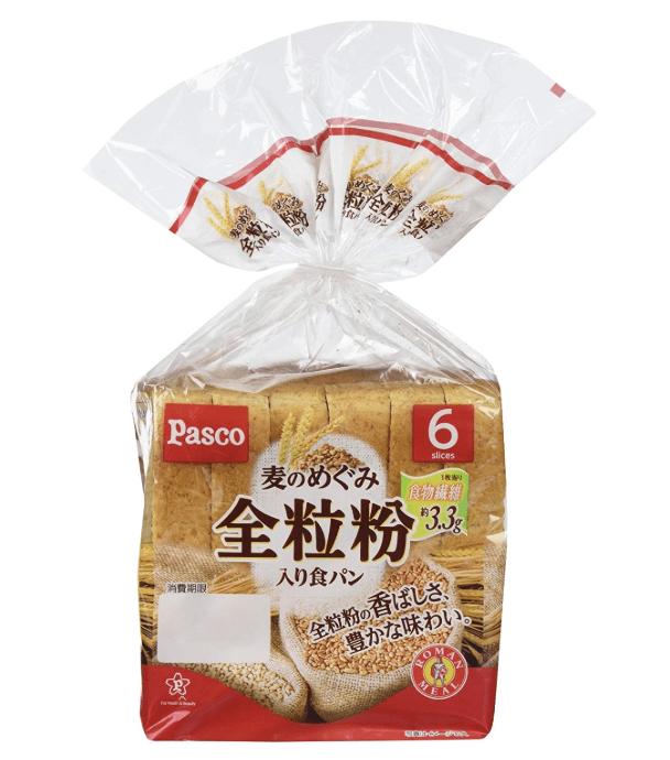 パスコ 麦のめぐみ 全粒粉入り食パン 6枚切
