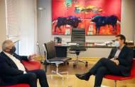 Συνάντηση του Προέδρου του ΣΥΡΙΖΑ, Αλέξη Τσίπρα,  με τον ΓΓ του ΑΚΕΛ, Άντρο Κυπριανού