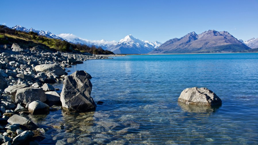 a body of water near Mount Cook