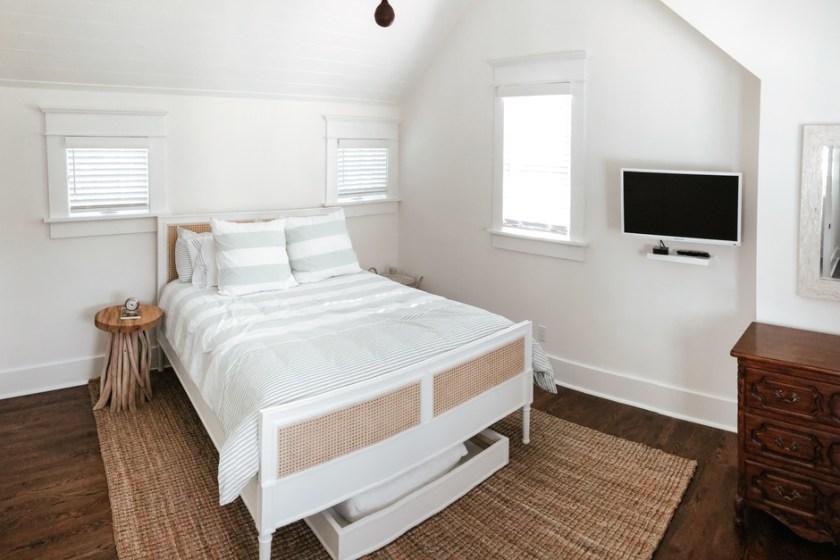 a beach house bedroom