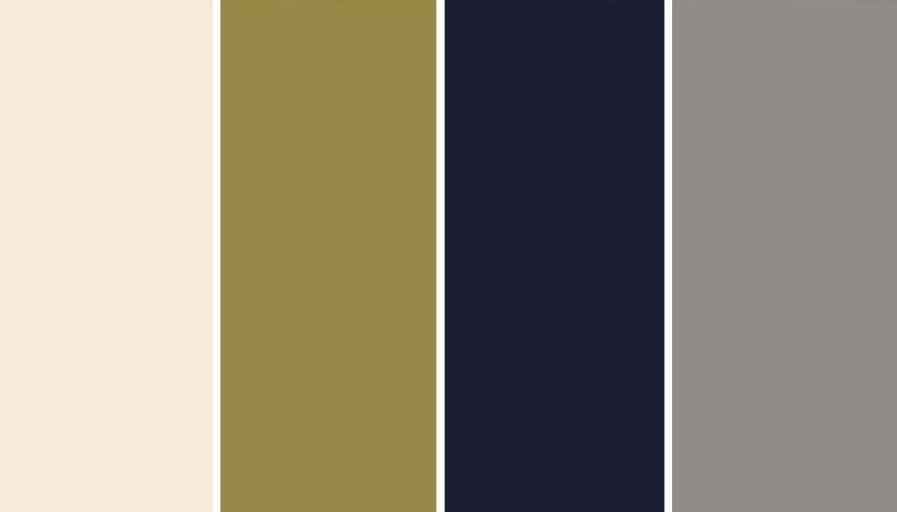 pantone colours beige, green, navy, grey