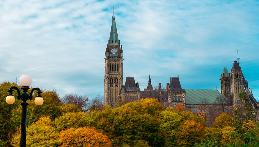 view of Parliament hill in Ottawa, ON