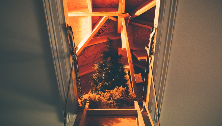 Storing your tree in the attic
