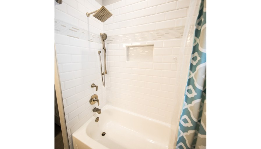 A clean shower