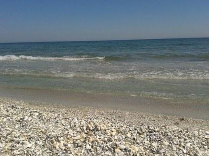 la mare pe plaja corbu
