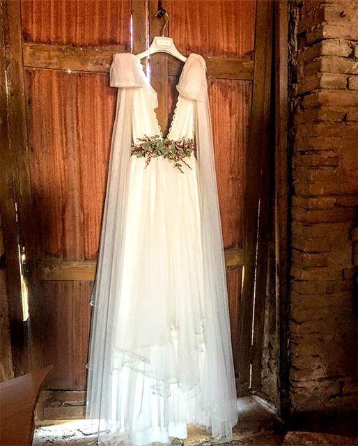 Un vestido de novia Estels d'Argent