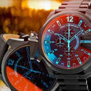 Настоящие мужские часы Diesel 10 bar