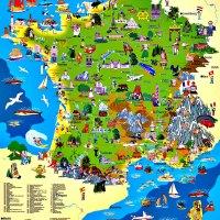 Carte de France touristique