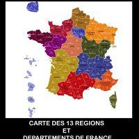 Carte de France des régions Images