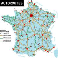 Carte de France des autoroutes