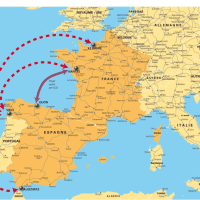 Carte France - Espagne