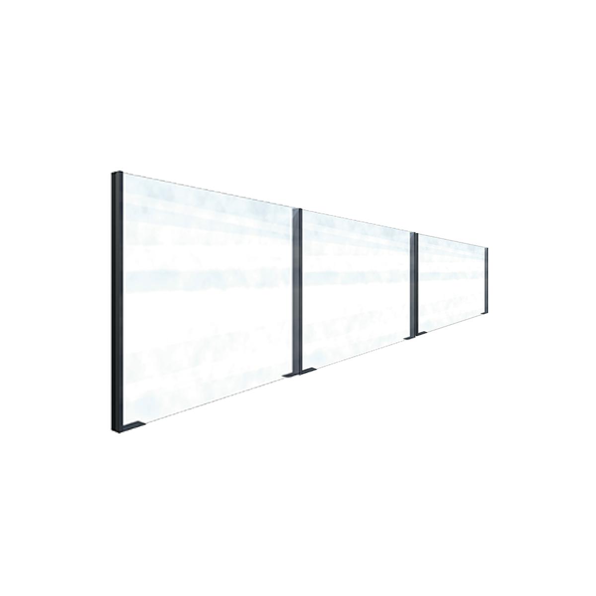 pare vent en verre pour terrasse