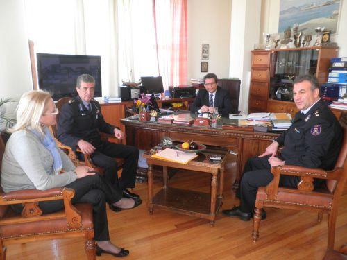 Εθιμοτυπική επίσκεψη στον Δήμαρχο Βόλου κ. Πάνο Σκοτινιώτη πραγματοποίησαν χθες