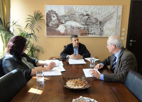 Συνάντηση με τον πρύτανη του Πανεπιστημίου Θεσσαλίας κ. Ιωάννη Μεσσήνη είχε ο περιφερειάρχης Θεσσαλίας κ. Κώστας Αγοραστός για τα έργα του ΕΣΠΑ που αφορούν στο εκπαιδευτικό αυτό ίδρυμα