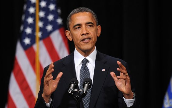President Obama speaks at an interfaith vigil for families of the victims