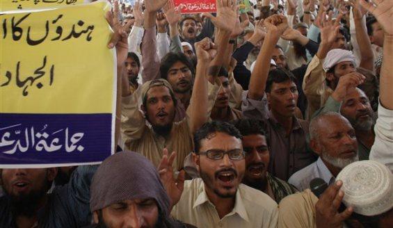 πακισταν διαδηλωτές