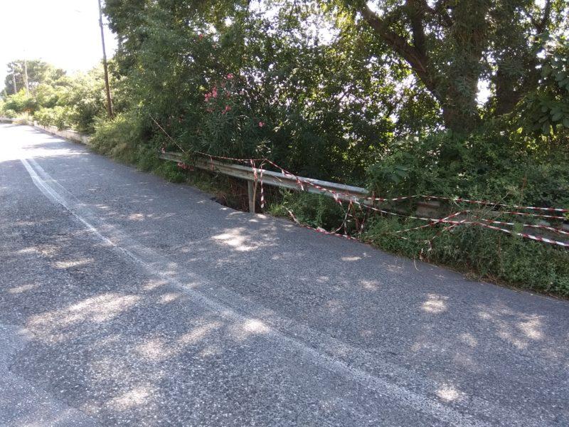 Επικίνδυνο σημείο στο οδικό δίκτυο του Πηλίου