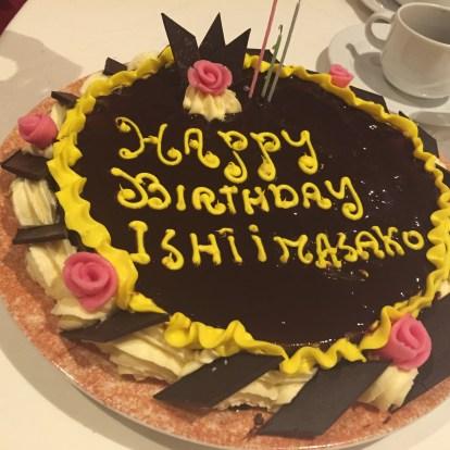 誕生日祝いのケーキ