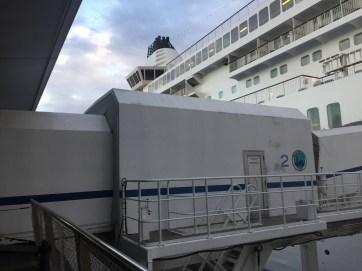 ぱしふぃっくびいなす乗船