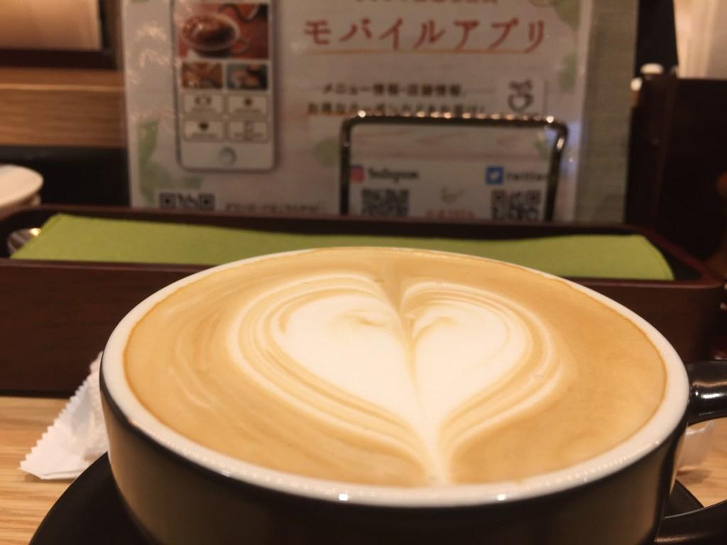 むさしの森珈琲のカフェオレ