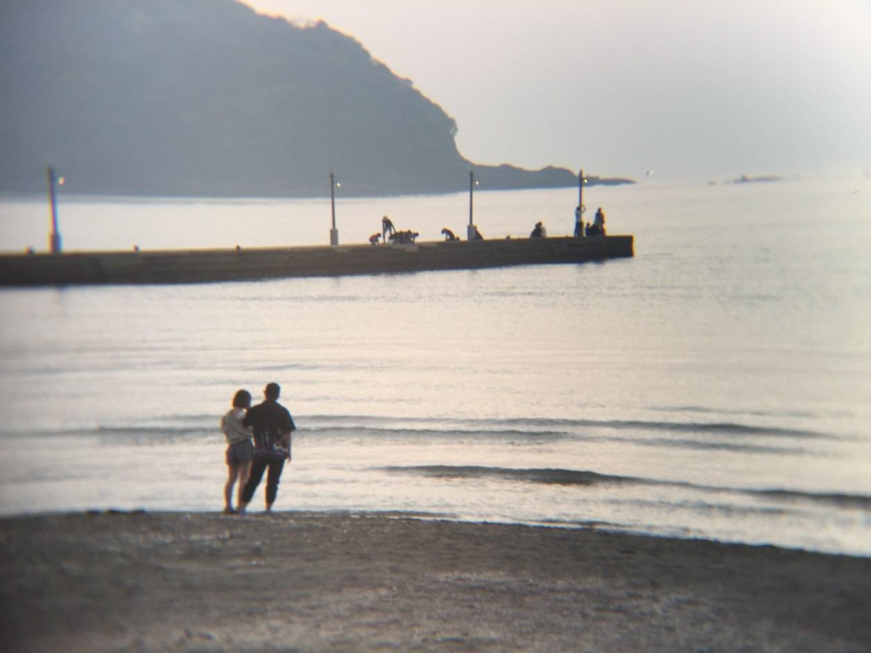 原岡海岸の夕日