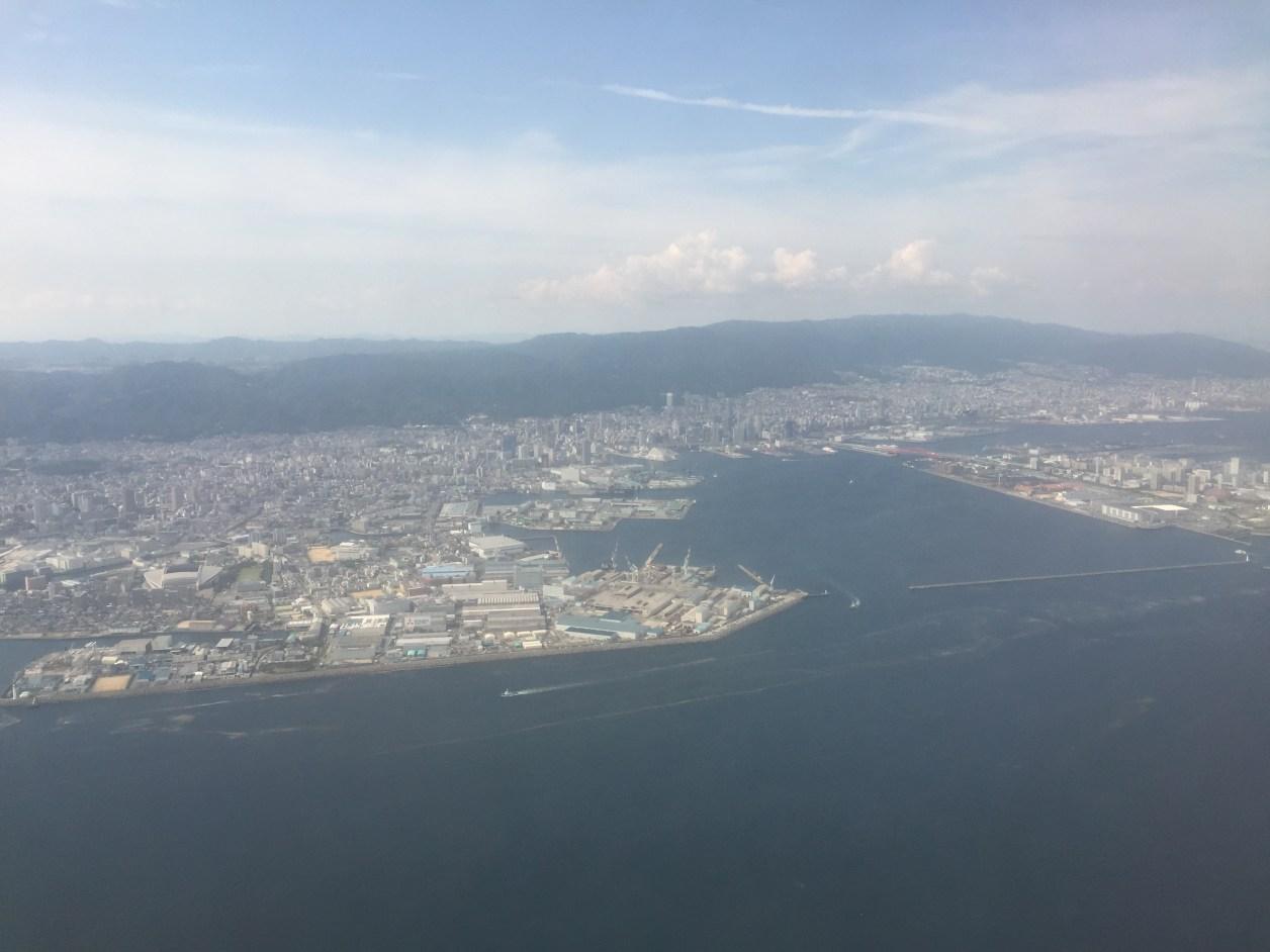 スカイマークエアラインより神戸の街