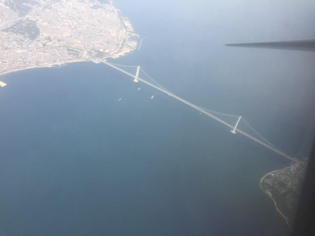 スカイマークエアラインより明石海峡大橋