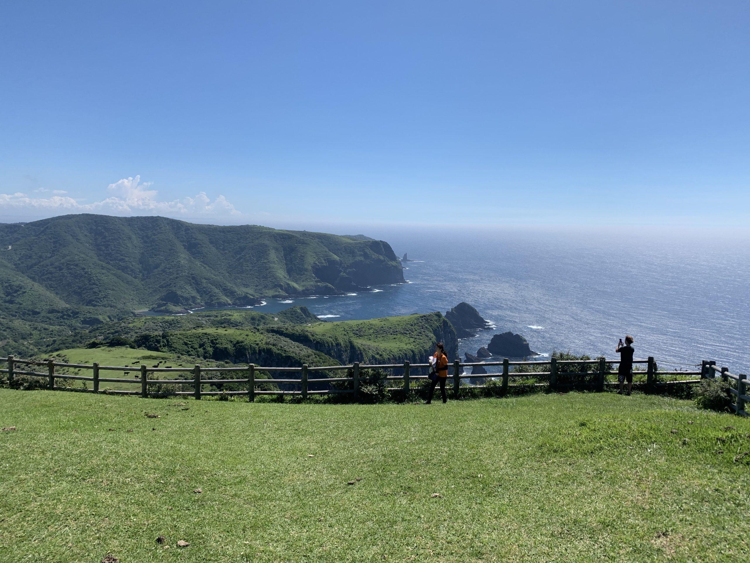 隠岐の島摩天崖からの眺め
