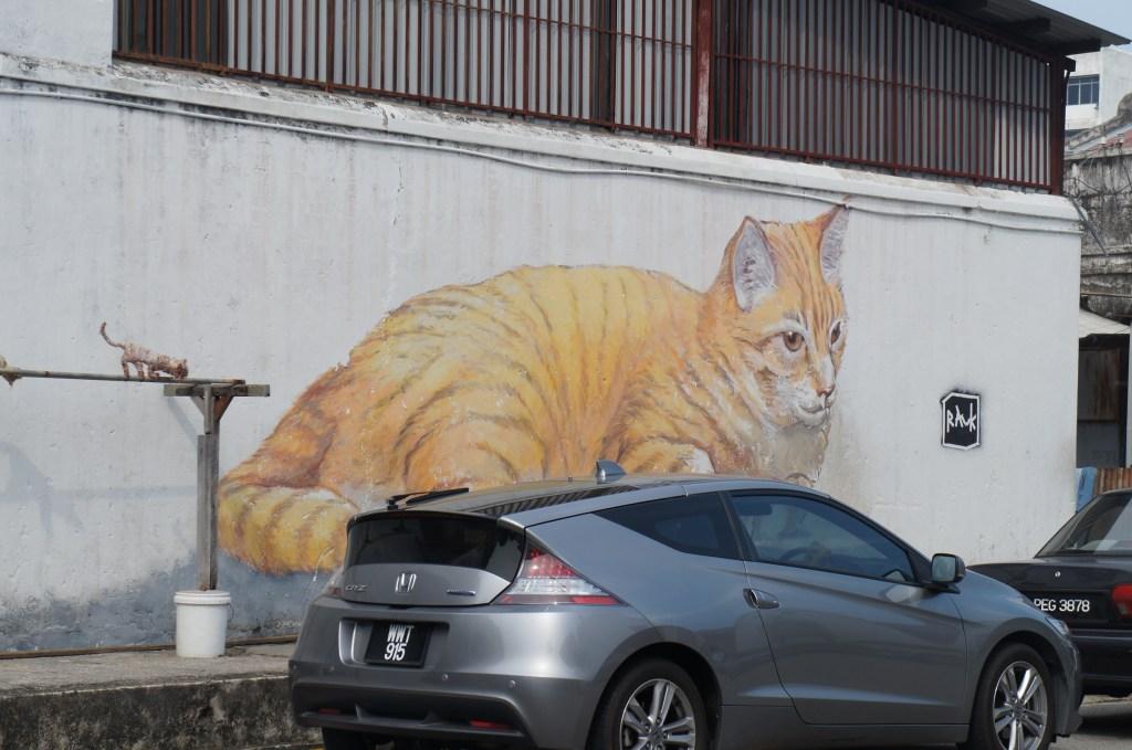 ペナン島ジョージタウンのネコへきが