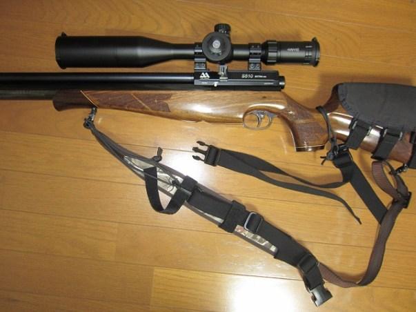 新人猟師が教える【ライフルスリング:肩から外れにくくする方法】:プリチャージ空気銃